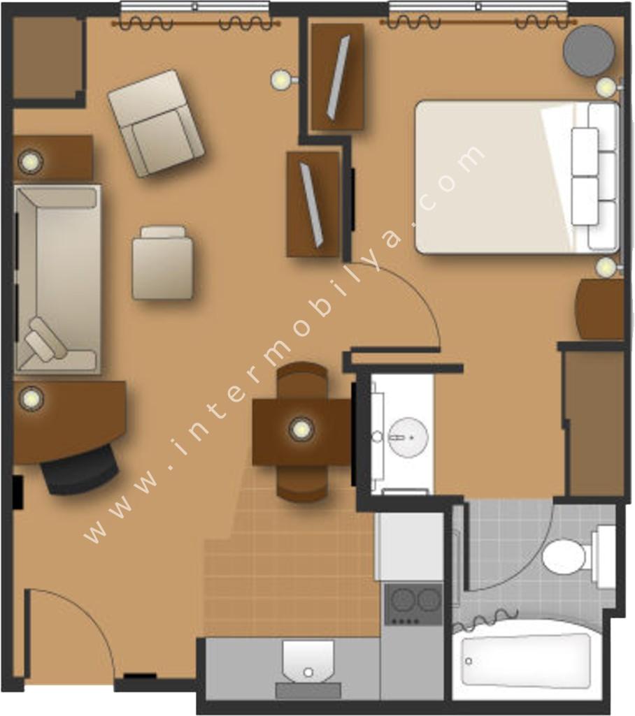 yatak odaları yerleşim planları