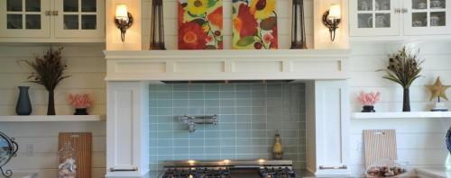 Duvar Kağıdı, Ahşap ve Mozaik İle Mutfak Tasarımları